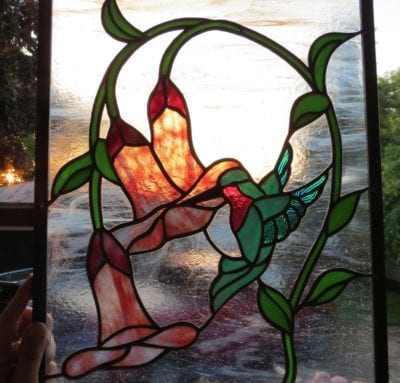 hummingbird stained glass repairs by mccully art glass & restorations lafayette indiana