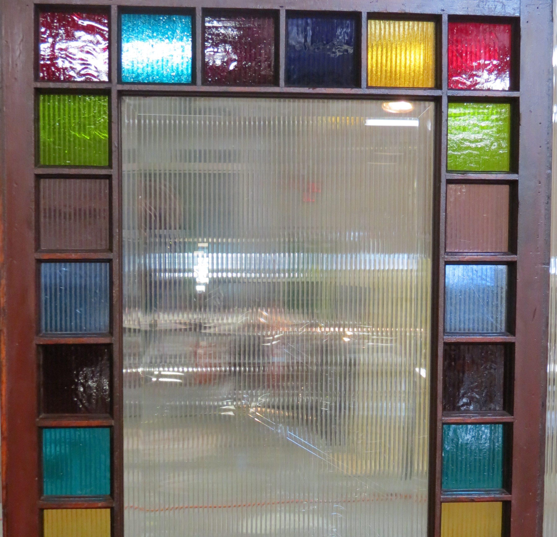 prism of color door historic art glass restoration by mccully art glass & restorations lafayette indiana