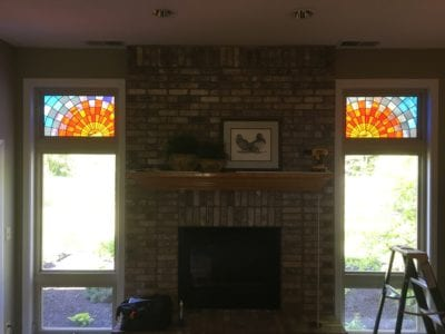 custom stained glass sunrise by mccully art glass & restorations lafayette indiana