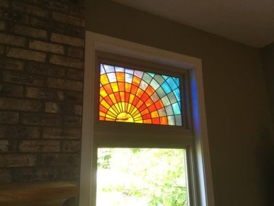 sunrise custom stained glass by mccully art glass & restoration lafayette indiana